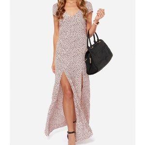 For Love & Lemons Hailey Pink Maxi Dress